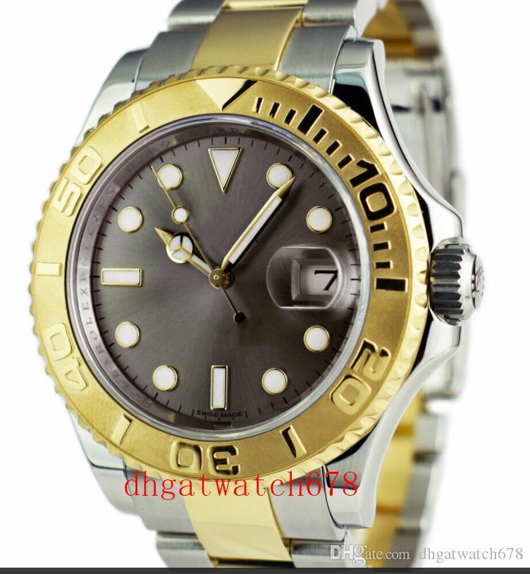 Luxus-Uhren Top-Qualität Edelstahl-Armband Mens 18k Golduhr 16623 40mm Mechanische MAN UHR Mode Herrenarmbanduhr