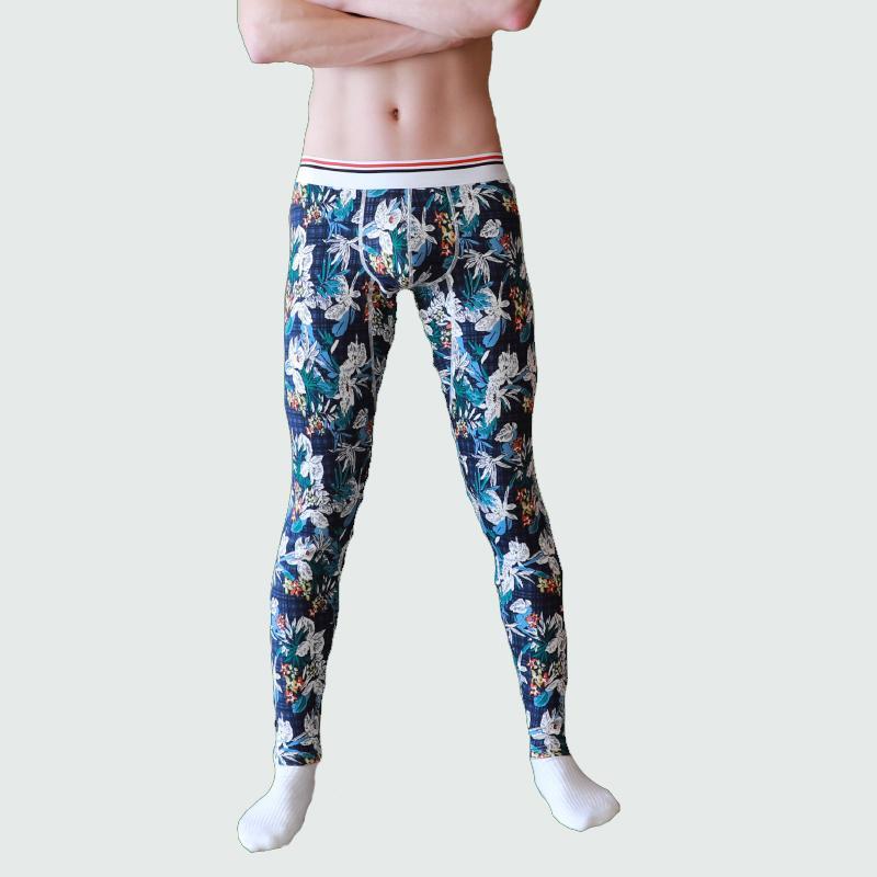 Hommes Sous-vêtements thermiques d'hiver chauds Pantalons Hommes Long Johns coton imprimé Leggings thermique coton collants et leggings Vêtements pour hommes Thermo