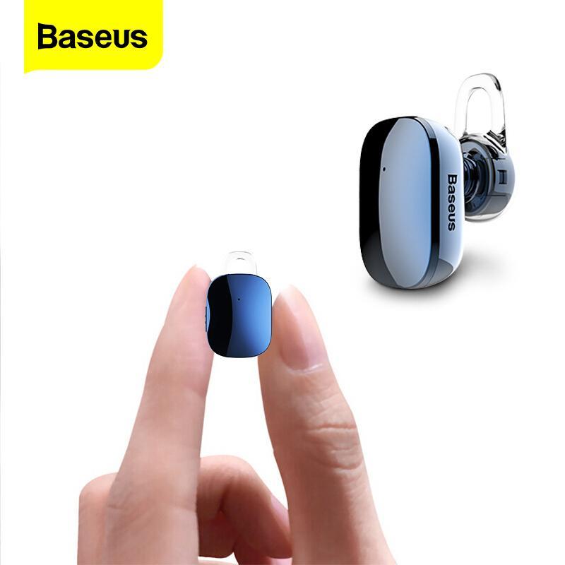 onsumer Electronics Baseus Mini Bluetooth Earphone Hands-free Wireless Bluetooth Headset Headphone with Mic 4.1 Ear Hook Earbuds Earpiece...
