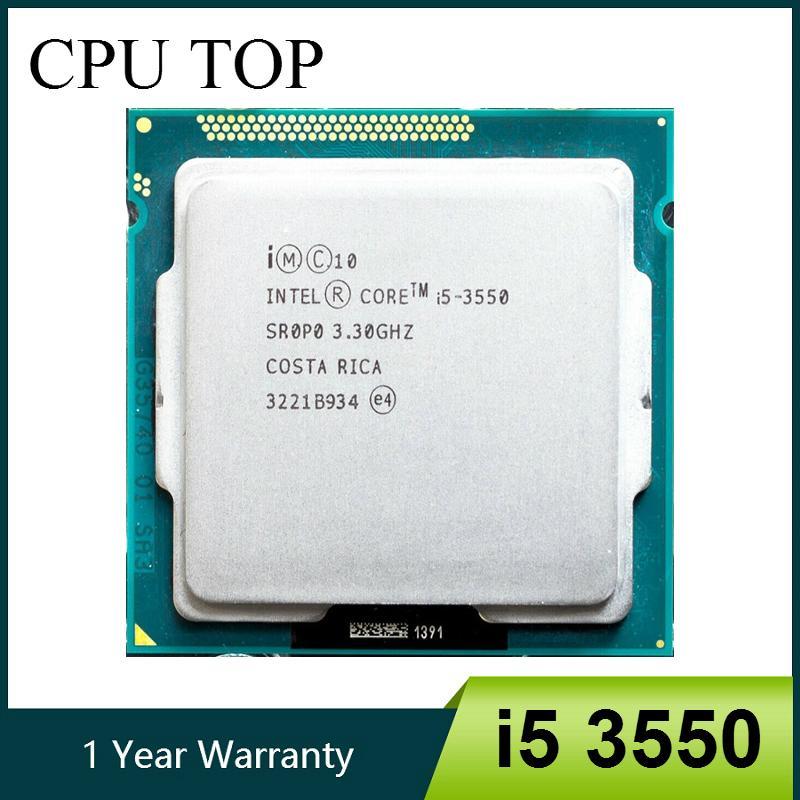 Composants PC processeurs Intel Core i5 3550 Processeur Quad-Core 3.3GHz Socket LGA 1155 77W CPU de bureau de travail 100%
