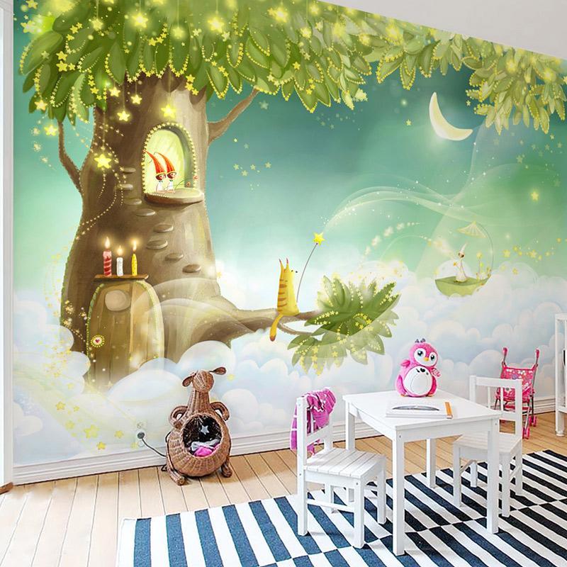 Carta da parati personalizzata Dropship Foto 3D Wallpaper sogno dei bambini del fumetto Soggiorno Camera della decorazione della casa della parete di arte murale per pareti 3 D