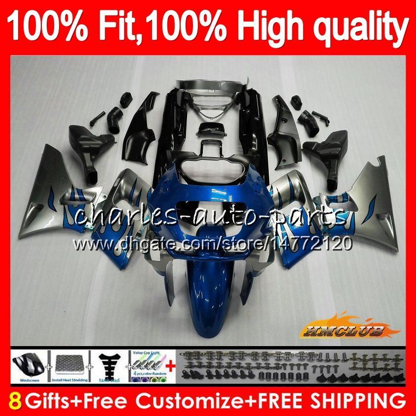 Para injecção chamas azul Kawasaki ZZR 600 ZZR400 1993 1994 1995 1996 1997 1998 84HC.113 ZZR600 ZZR 600 400 ZZR400 93 94 95 96 97 carenagens