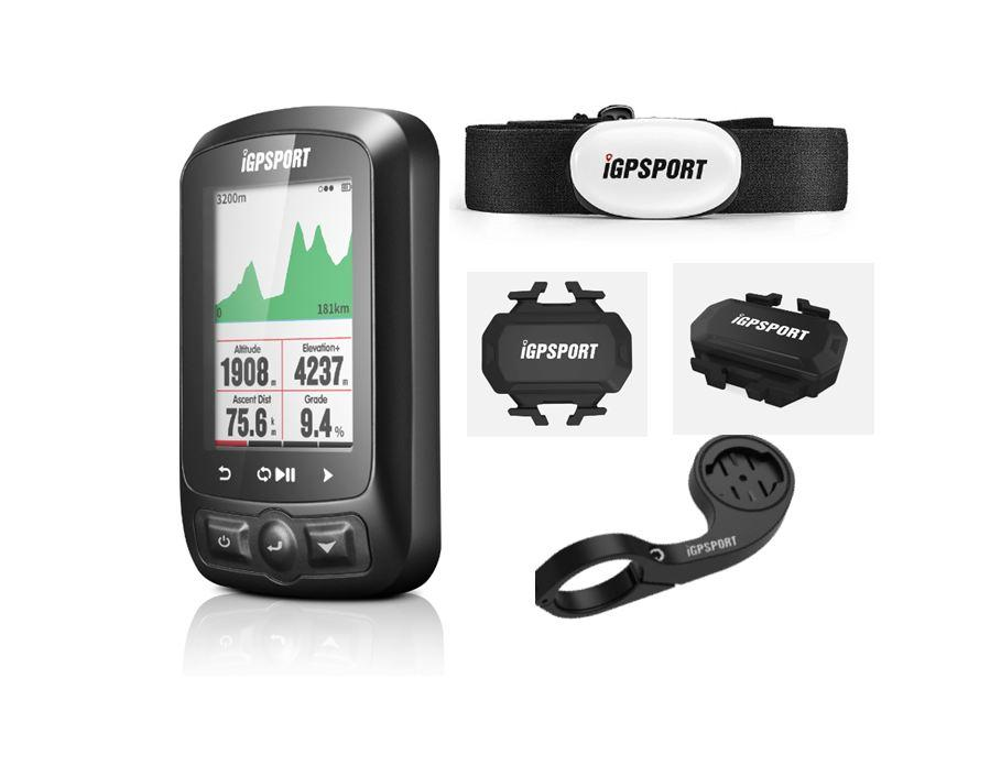 IGPSport Cycling Computer wireless Computer + tachimetro per biciclette IGS618 Bike Frequenza cardiaca Velocità Cadence Sensore Computer Accessori per computer