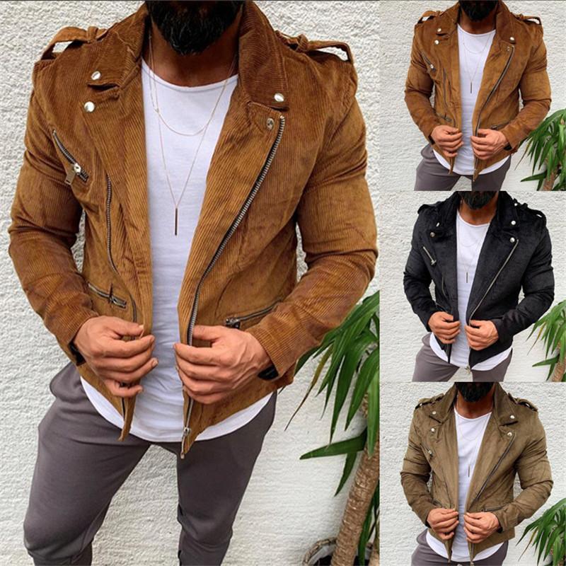 Luxury Mens velluto a coste giacca designer allentato Slim cardigan Cappotto invernale Casual Mens Outerwear