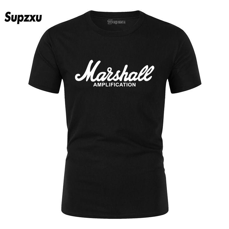 2020 New Marshall-T-Shirt Logo Amps Amplification Guitar Hero Hard Rock Cafe Musik Muse Tops T-Shirts für Männer Mode-T-Shirts