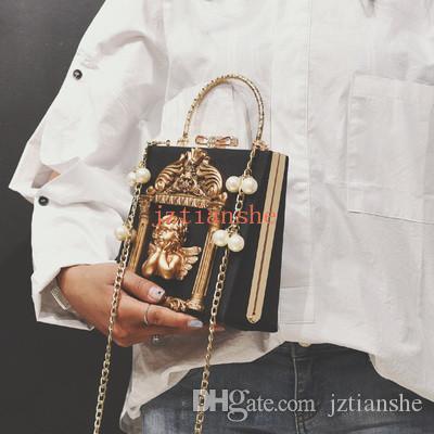 2020 neue Dame-Quadrat-Tasche Retro Schulter-Kette kleine quadratische Tasche Modische wilde Messenger Bag Kostenloser Versand