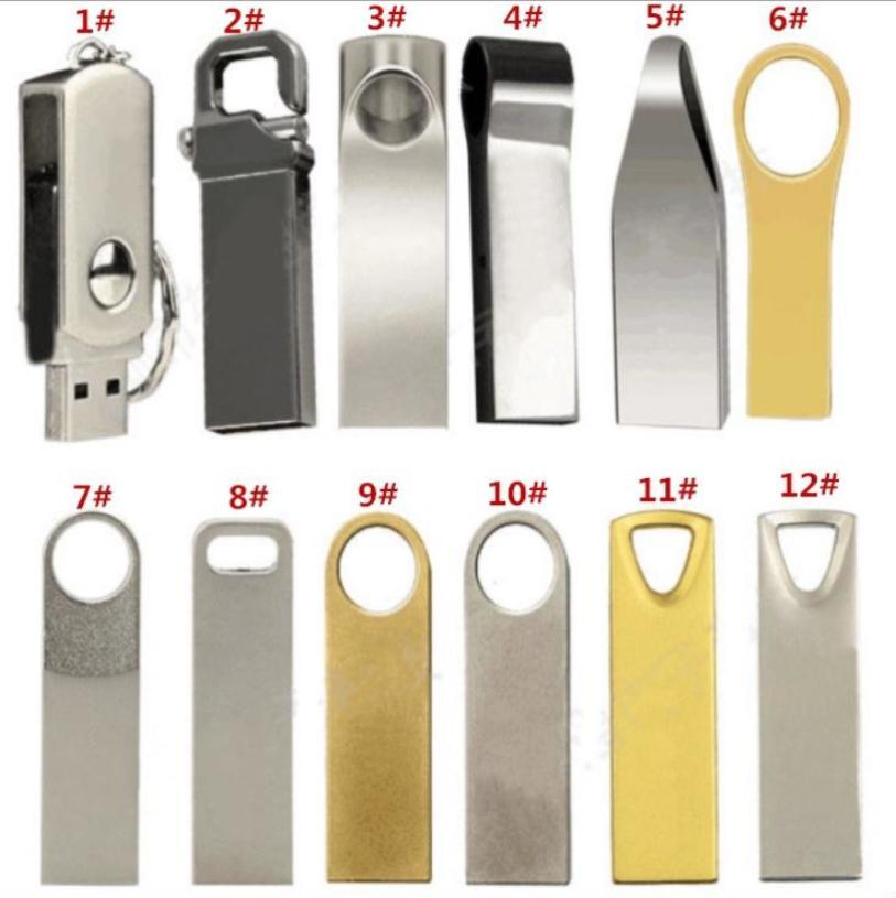 2021 NEW waterproof USB 2.0 wholesale metal Packaging and Printing 256GB 128GB 64GB 32GB waterproof U disk custom business gift 80pcs