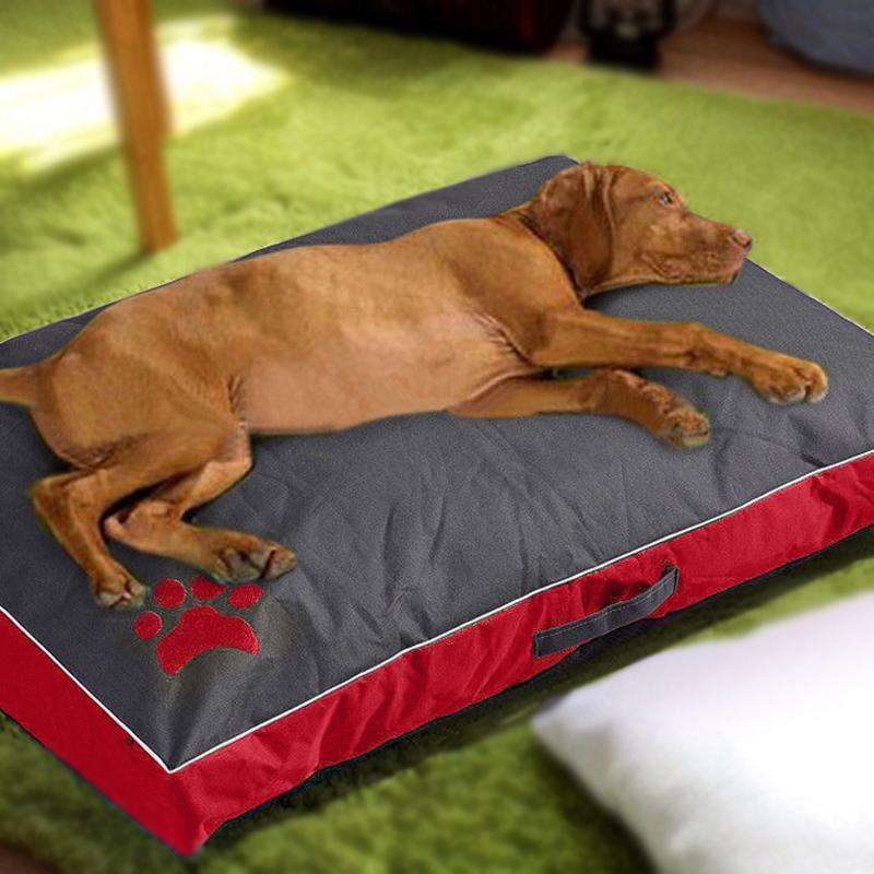 Dog Bed Cushion Big para cães grandes Oxford pano impermeável durável Dog House Pad portátil Pet Nest Sofá Cats Cobertor Almofada