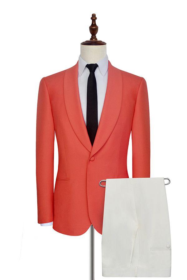 Sıcak Satış Damat Smokin Bir Düğme Groomsmen Şal Yaka Best Man Suit Düğün / Erkekler Damat Suits (Ceket + Pantolon + Kravat) A636