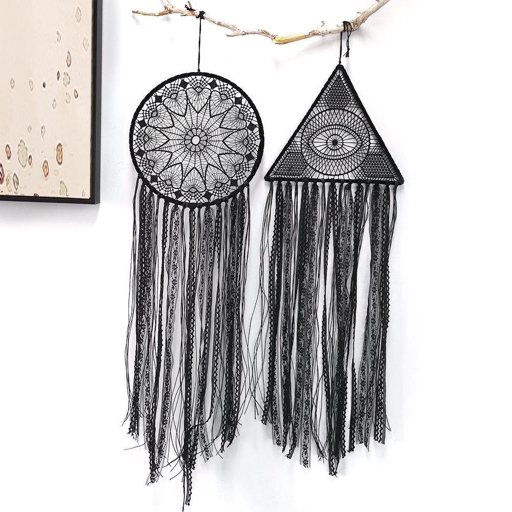Schwarz Handmade Traumfänger hängende Verzierung Traumfängern für beadroom Hand gesponnene Traumfänger Boho-Wand-Kunst-Wand-Dekor BMW17