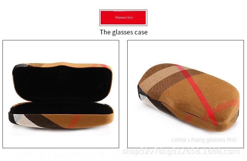 tissu d'origine cas de cas Lunettes de soleil Plaid lunettes boîte d'emballage intérieur boîte de compteur de tissu