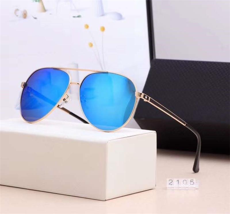 Завод прямого Классический стиль 7 ЦВЕТОВ винтажного стиль Polaroid очки для мужчин высокого качества с пакетом Box голодает перевозку груза 2105