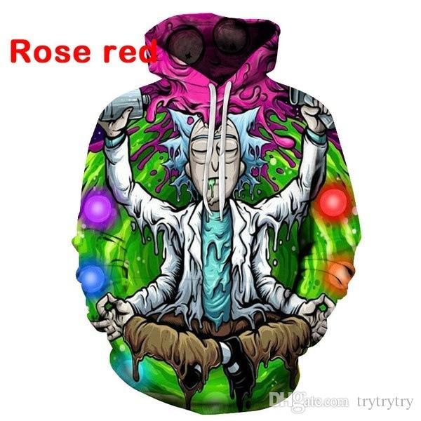 Güzel kalite Yeni Rick ve Morty hoodies tişörtü 3D Baskı unisex kazak hoodie erkekler / kadınlar giyim Ypf195