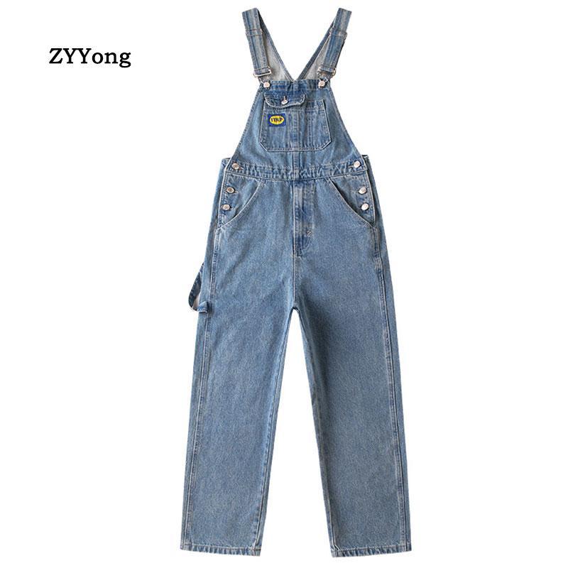 2020 новый нагрудник комбинезоны для мужчин подтяжки брюки Мужские джинсы комбинезоны High Street Sping осенняя мода деним мужской размер S-2XL