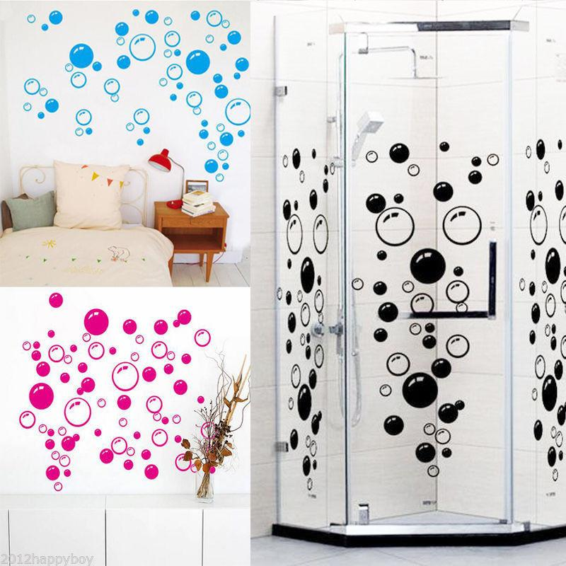 DIY جدار الفن للأطفال حمام دش مغسل بلاطة للإزالة ديكور الرئيسية لصائق جدارية ديكور ملصقات ملصق فقاعات