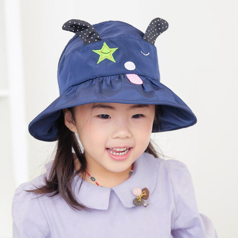 Summer Boy Girl Bucket Fishing Hats Sunscreen Sun Cap Folding Spring Kids Children Fisherman Hat