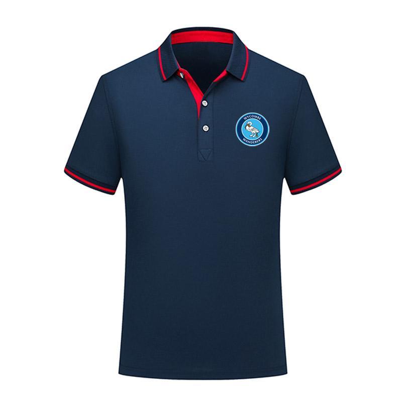 Wycombe Wanderers-Polo-Hemd Sommer-Männer Business Casual Tops Herren Sport Run Kurzarm Poloshirt Trainings Polos Herren Polos