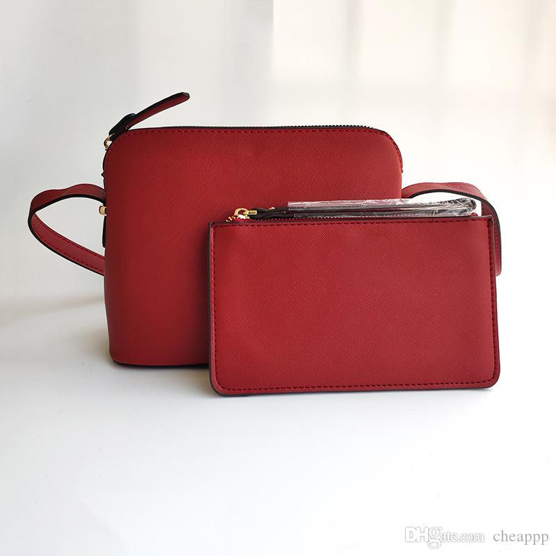 2ST Set-Marken-Entwerfer-Frauen PU-Leder weibliche Schultertasche Wristlet Umhängetasche Shell Taschen Mode Kleine Messenger Bag Handtaschen