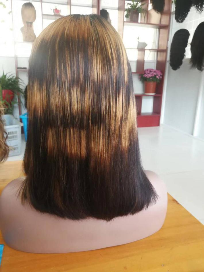 Honey Blonde Ombre Short Bob Wigs Pre Plucked Human Hair Glueless Lace Front Wig For Black Women F1b 27 Malaysian Straight Full Lace Bob Wig High End Wigs Top Lace Wigs From Dinglong111