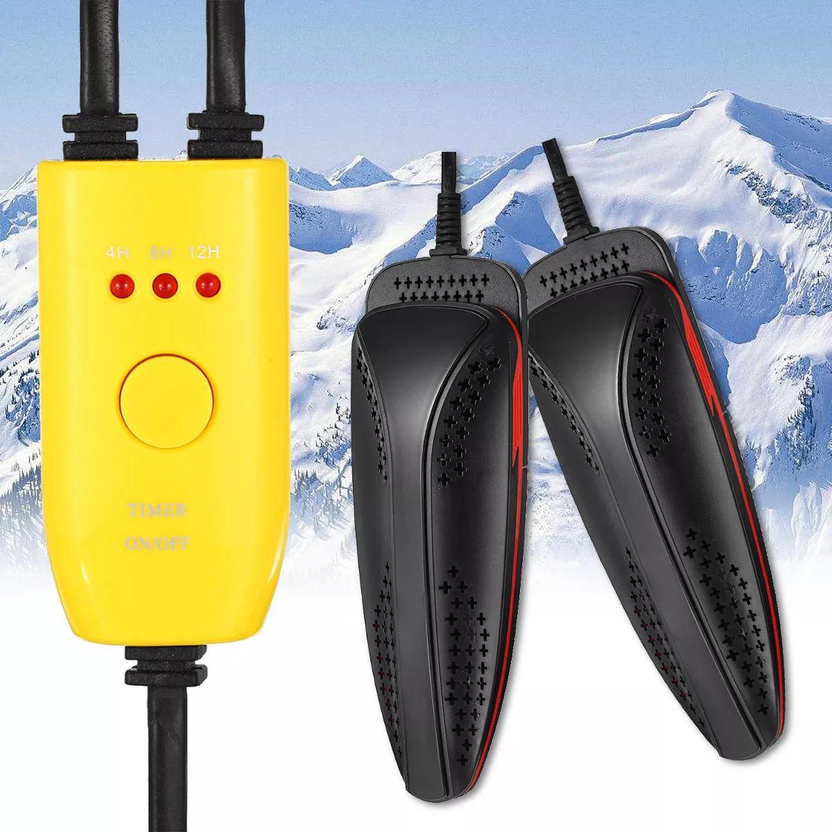 20W 110V220V Electric Shoe Dryer Foot Protector Boot Odor Deodorant Shoes Drier Heater - Yellow 220V EU Plug