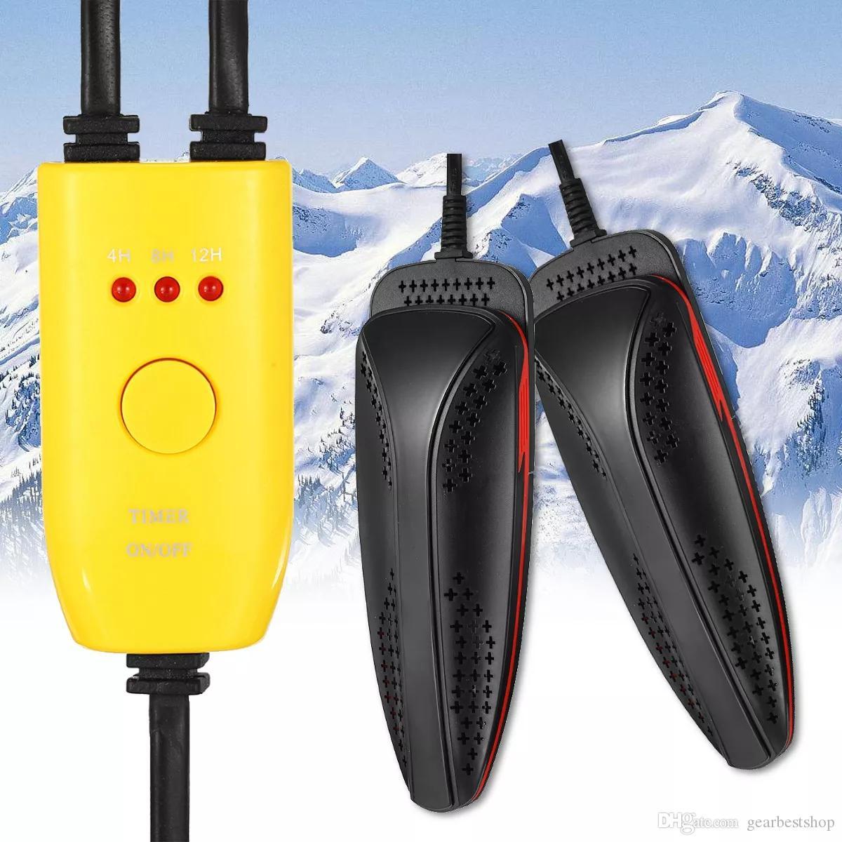 20W 110V220V Elektrikli Ayakkabı Kurutucu Ayak Koruyucu Boot Koku Deodorant Ayakkabı Kurutucu Isıtıcı - Sarı 220V AB Tak