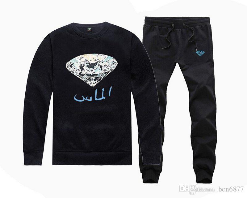 s-5xl uomini liberi di trasporto stampa geometrica tuta da corsa con cappuccio pullover hip hop o-collo felpa + pantaloni tuta abbigliamento