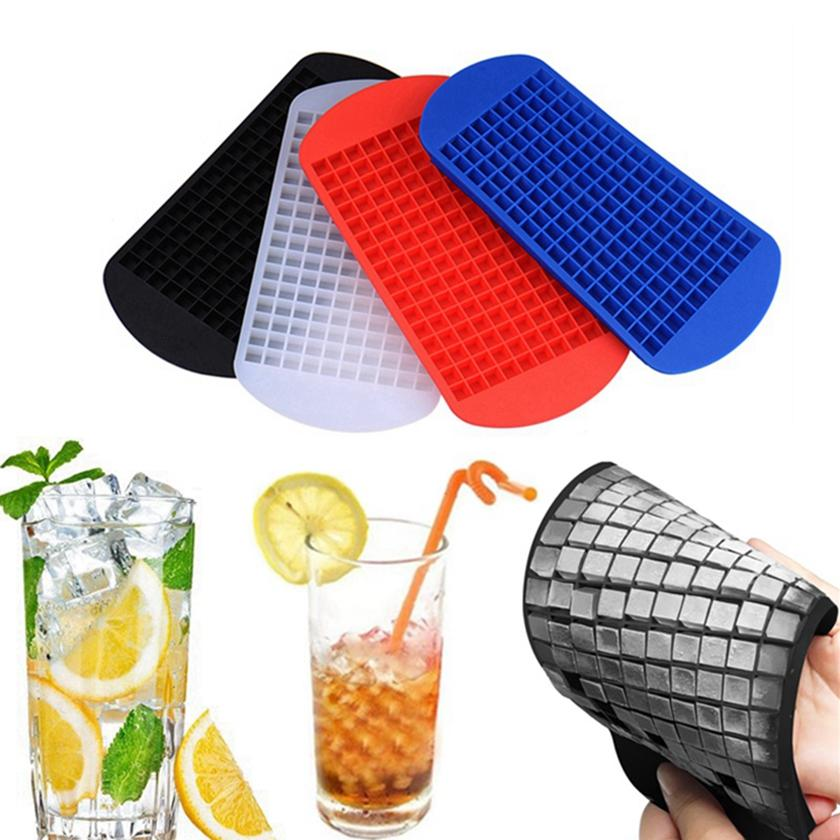 Ice Maker Mold 160 Grid Cube Silicone Ice Cube Mould Drinking Wine Whisky Beverage Party Bar Tools HHA1331