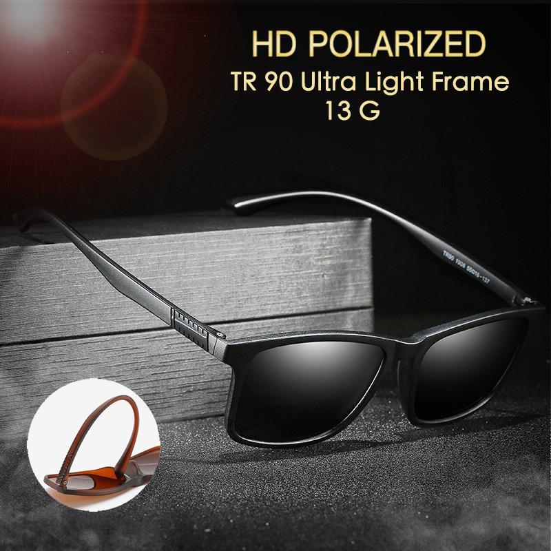 TR90 Ultra luz polarizada óculos de sol das mulheres / homens Anti Glare na noite lente amarela Driving homens / mulheres óculos polarizados / UV400
