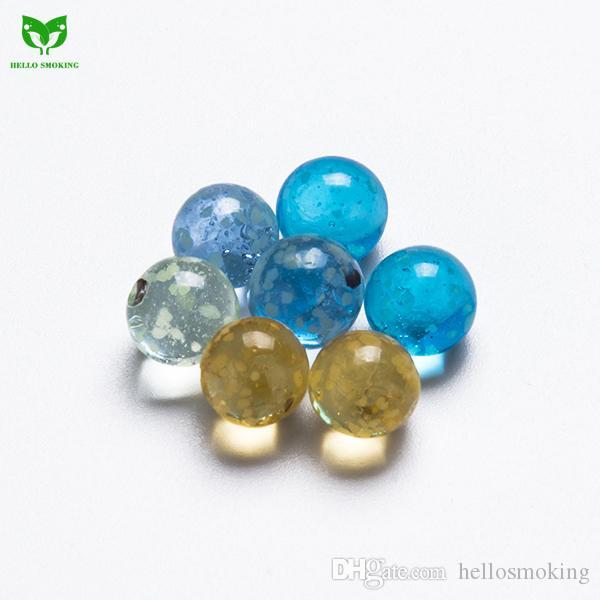 6mm Luminous Glass Bead Glowing In Dark Glass Terp Dab Pearl Insert for Turp Slurper Quartz Banger Nail 820