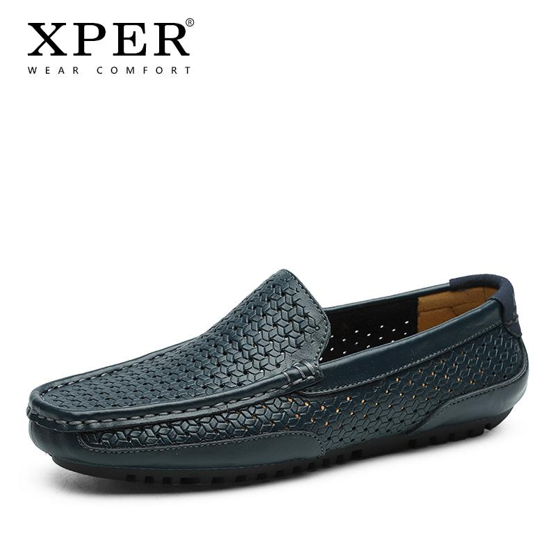 Men/'s Breathable PU Leather Comfort Slip On Loafers Summer Casual Driving Shoes