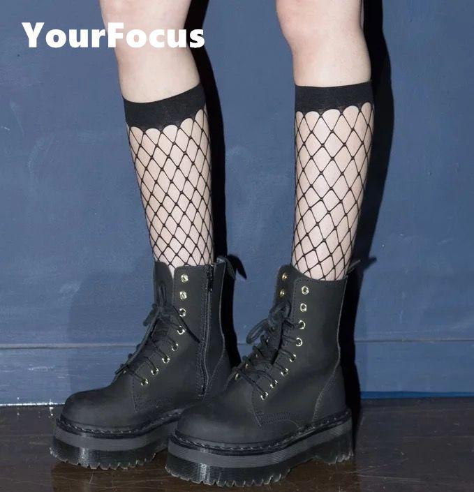 new summer fashion hip hop punk rok sexy k ins hot fishnet socks big mesh black in tube socks skateboard women