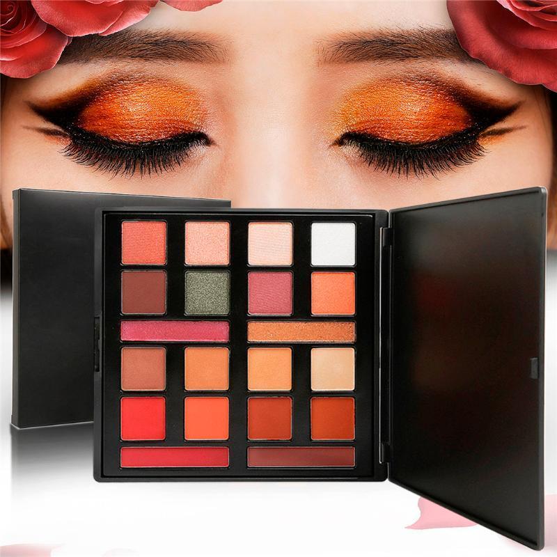 20 cores de maquiagem dos olhos nus Matte Shimmer Pallete Glitter Pó sombra para os olhos fumarentos da Terra Sombras Stamp Pigment z1