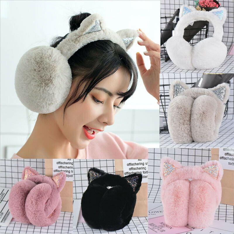 Winter Warmer Big Earmuffs Thicken Plush Fluffy Ear Muffs Solid Earlap Faux Fur Party Holiday DIY Decorations