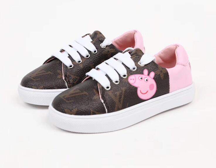 chaussures pour enfants de tendance européens et américains conseil chaussures de sport de jeunes chaussures fille fond coréenne douce faible top