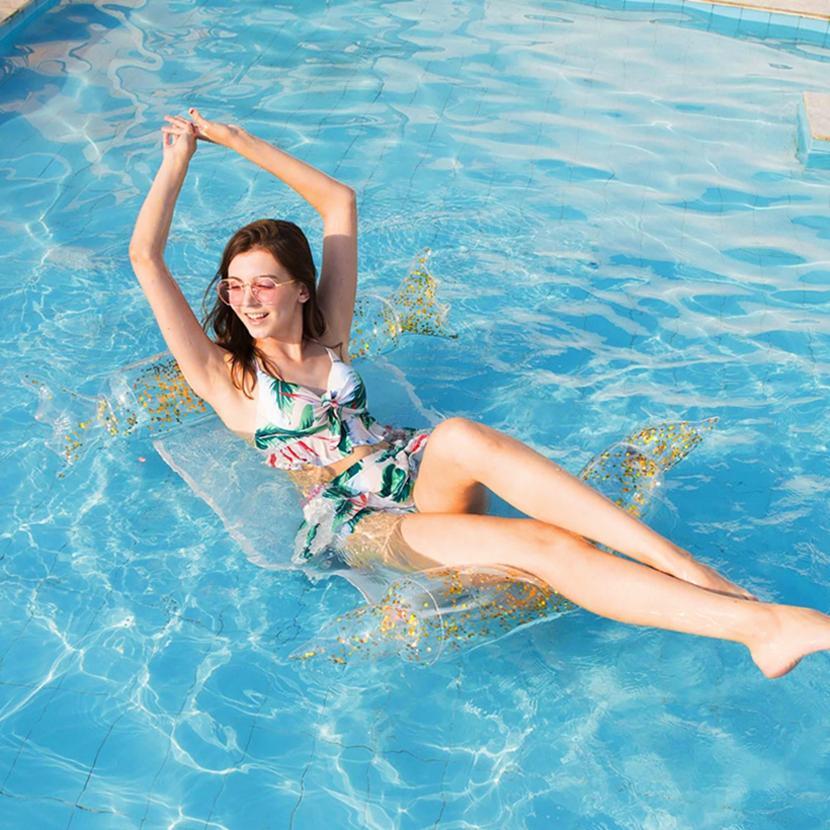 بركة سباحة الصيف نفخ العائمة أرجوحة المياه الصيف نفخ بركة تعويم السرير شخص واحد العائمة سرير أريكة HHA1305