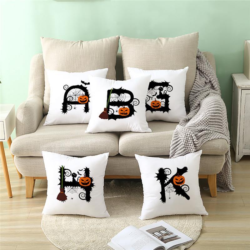 Halloween Pumpkin Throw Pillow Cover Pillowcases Decorative Sofa Cushion Cover cojines decoraci n cama Home Decoration Access @D