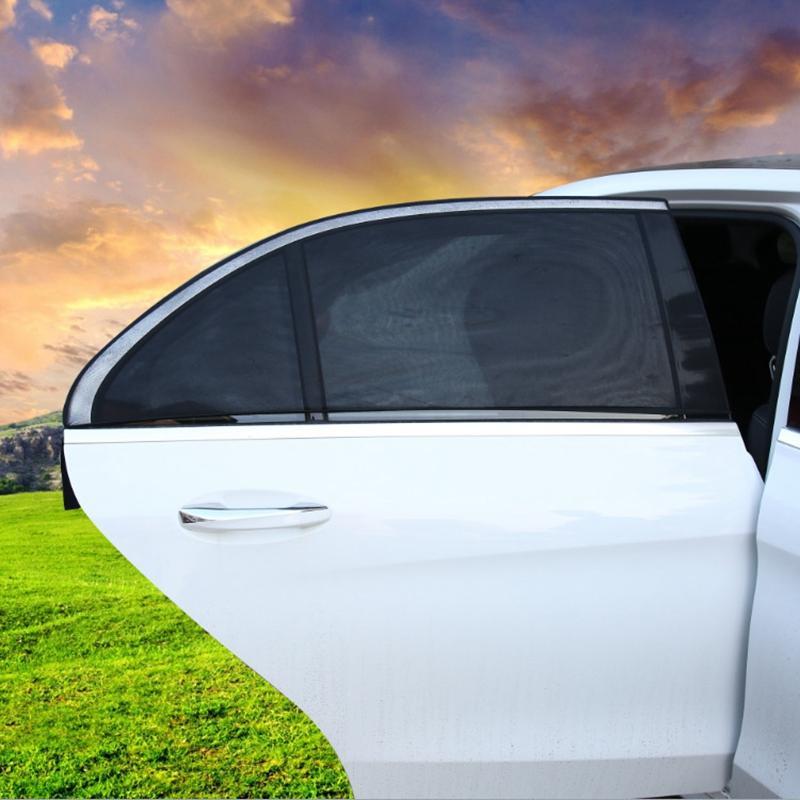 2 قطعة / الوحدة نافذة السيارة الجانب الشمس الظل غطاء السيارات البارسول uv حماية غطاء قناع حامي شبكة سيارة التصميم الديكور الملحقات HHA121