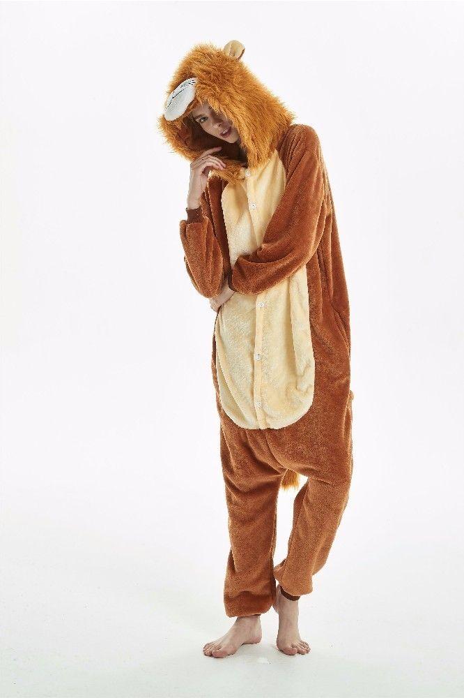 Toptan-Yeni aslan kaplan Yetişkin Pijama Cosplay kostüm Onesie pijamalar Homewear Unisex Pijama Partisi Giyim Kadın Erkek çocuk