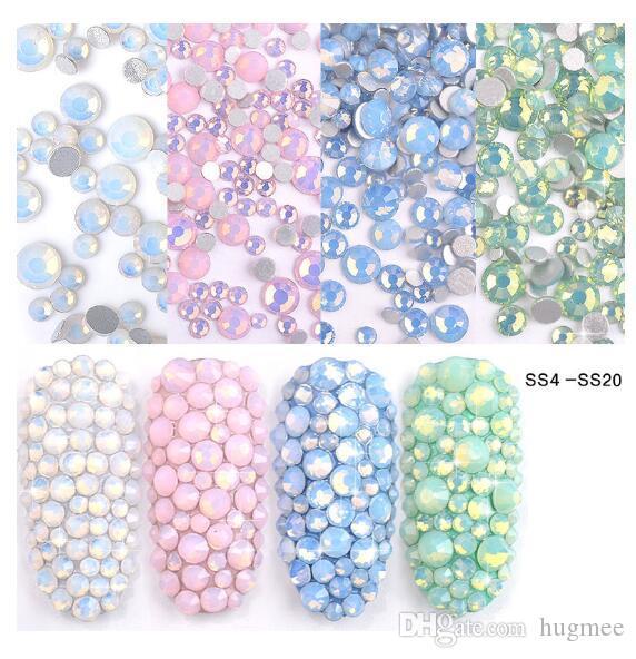 HugMee Nail Art Gioielli Drill piatto Nail Un Diamante Diamante di cristallo del diamante di colore zircone Nail Accessori M0046