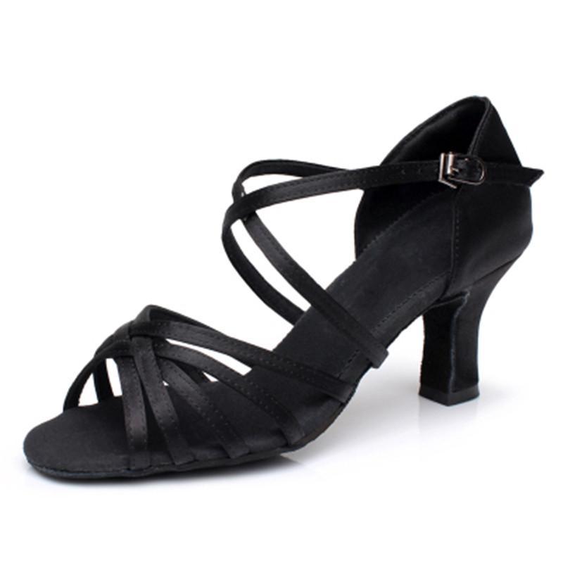 Kadınlar Rhinestone Latin Balo Kadın Latin Dans 7cm Hakkında Kadınlar Caz Balo Dans Ayakkabıları için Bayanlar Kızlar Sneaker Dans Shoes