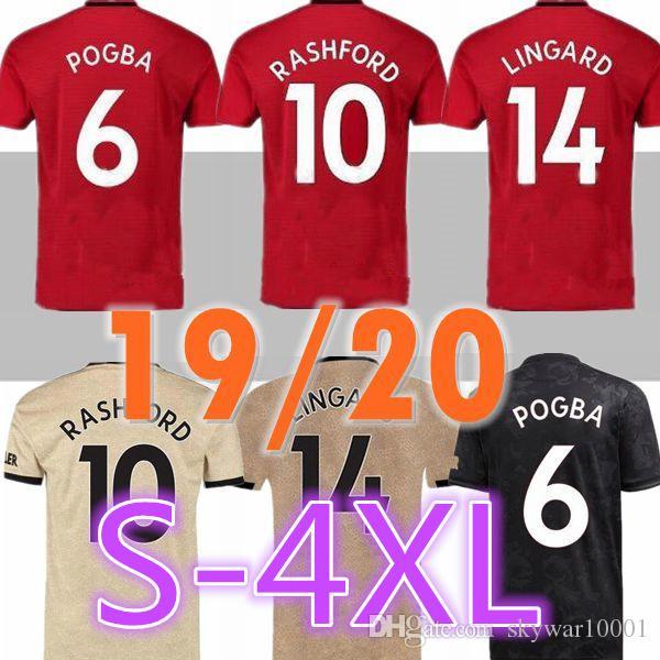 BIG SIZE 3xl 4xl 2019 2020 POGBA Manchester Home soccer Jersey 19 20 Home United ALEXIS MATA JAMES MAGUIR RASHFORD Matic shirt red shirt