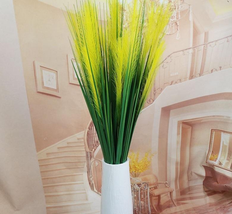Moda Plantas Artificiais 120cm 2 chefes da festa de casamento Silk Reed grama Criativo Home Office Decoração W9322
