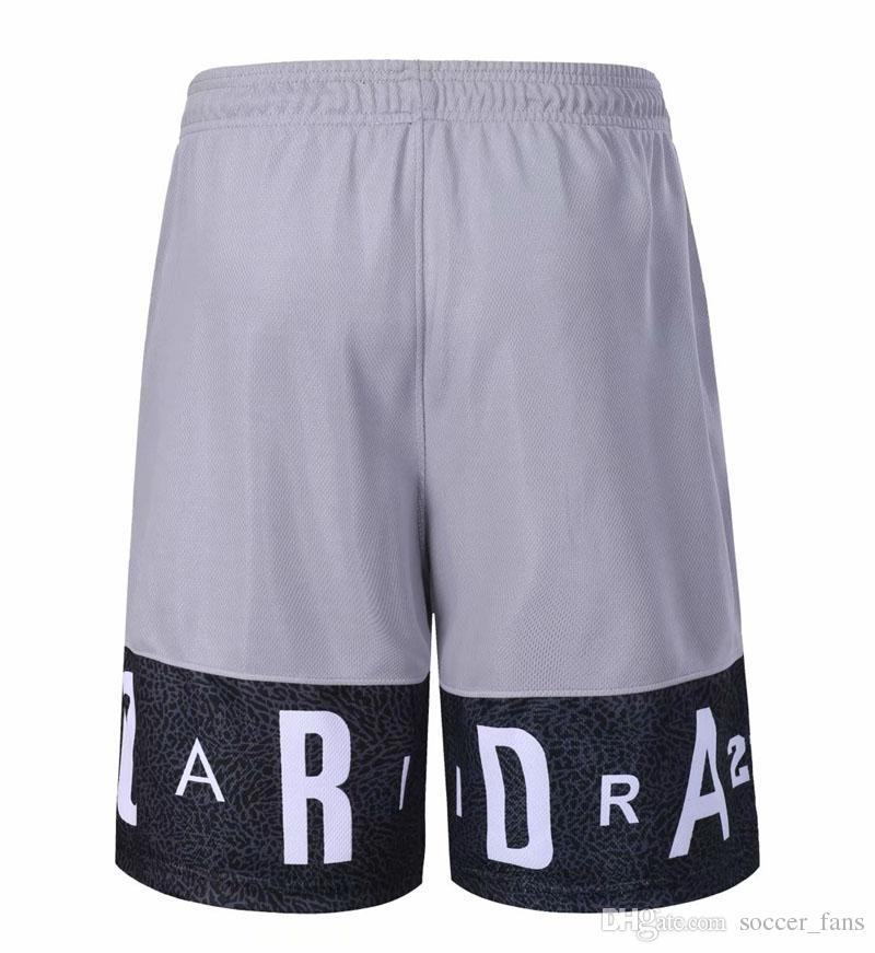 Nuove SY uomini pantaloncini da basket con tasche con cerniera Quick Dry Traspirante formazione di basket Shorts Pantaloncini da corsa Fitness Sport