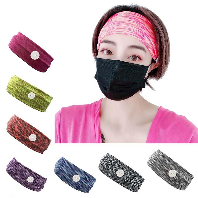 European and American fashion breathable sports hairband elastic button hairband wash face makeup hairband female