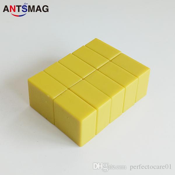 Super Plastic Coated N52 Neodymium Bar Magnets 15x15X7.5MM, DIY Permanent Magnets