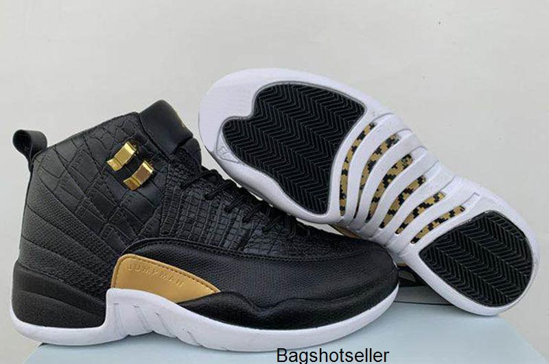Alta Qualidade 2020 Novas 12s Peixe cobra Homens Crianças tênis de basquete Jumpman 12 CNY Branca Ouro preto sapatos desportivos Sapatilhas