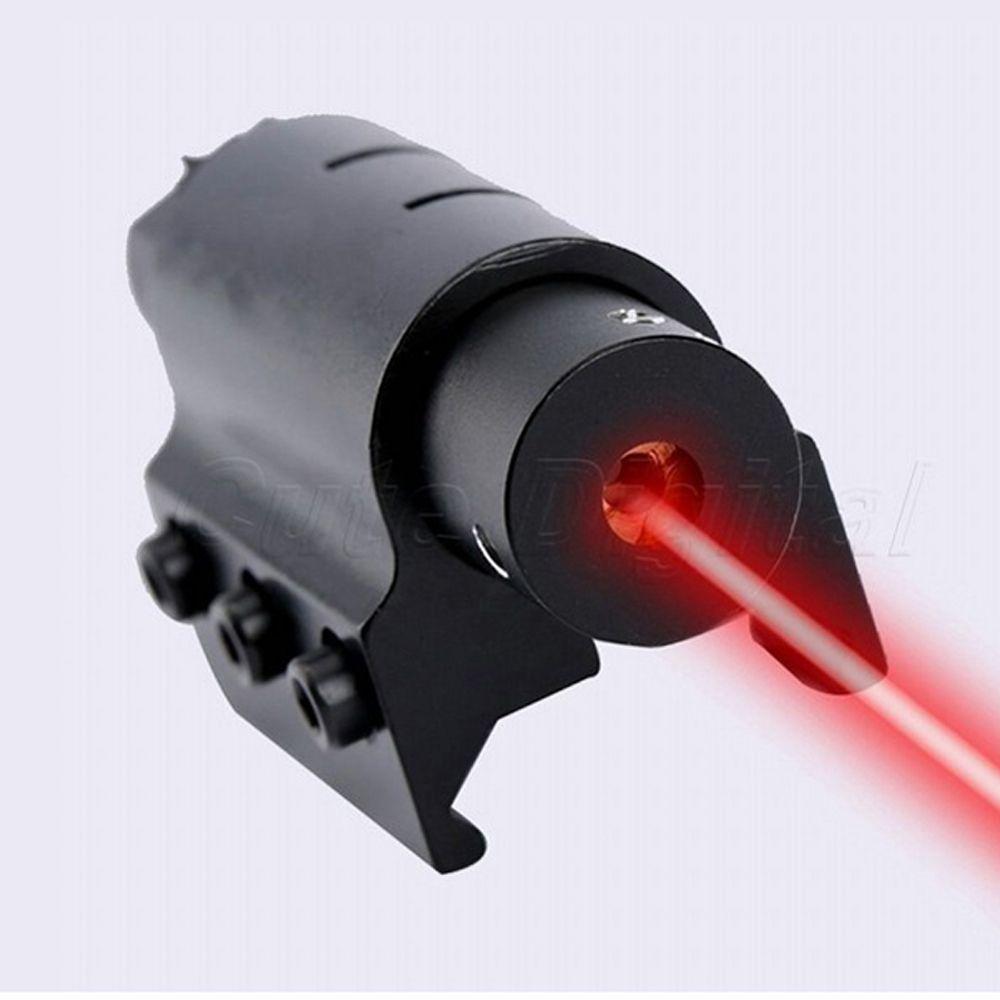 20mm 피카 티니 위버 레일 마운트 사냥 소총 권총 산탄 총으로 미니 1mW의 알루미늄 합금 전술 레드 레이저 도트 사이트.