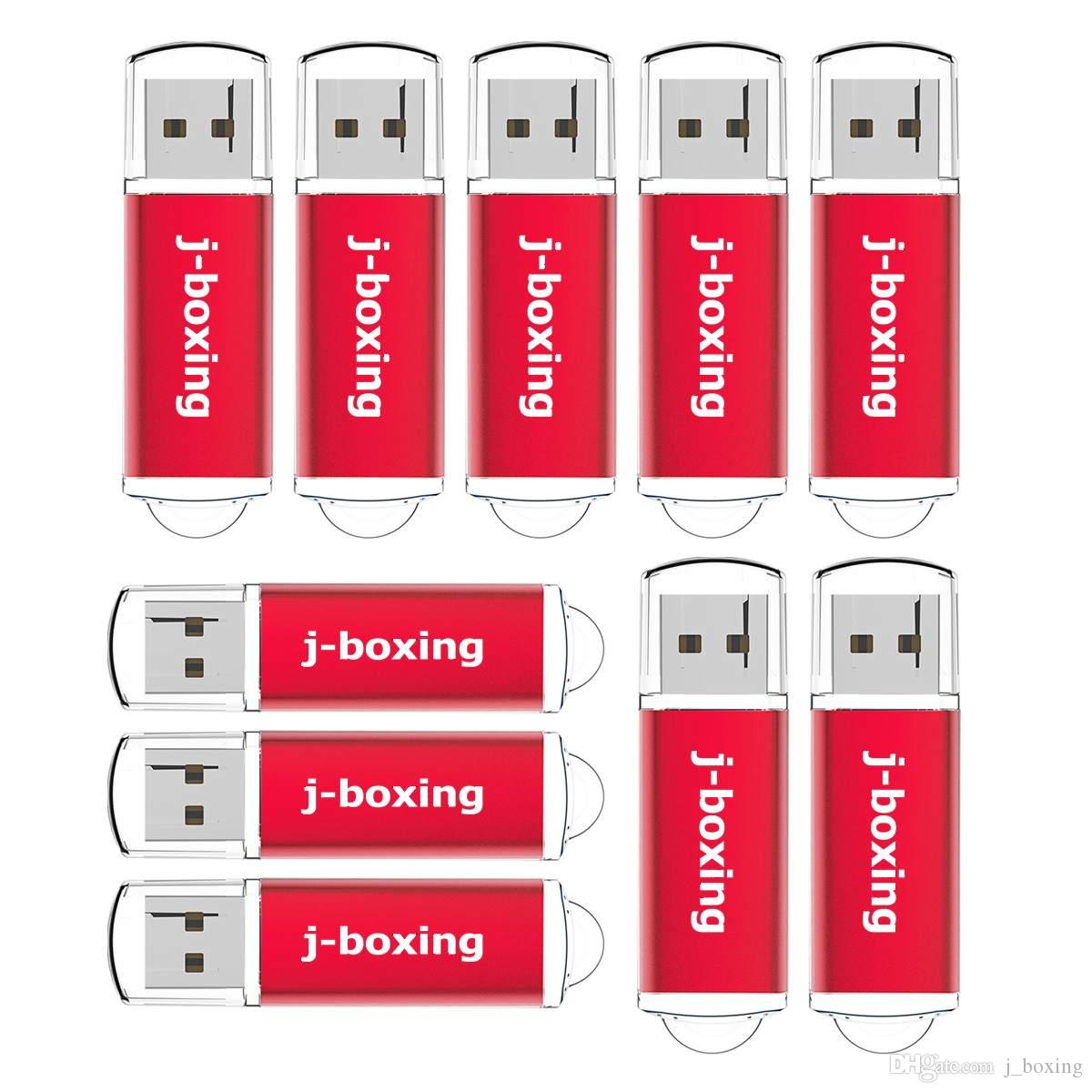 10PCS/LOT 16GB USB 2.0 Flash Drives Rectangle Flash Memory Stick Thumb Storage Pendrives Promotion Gifts Colorful for Computer Laptop