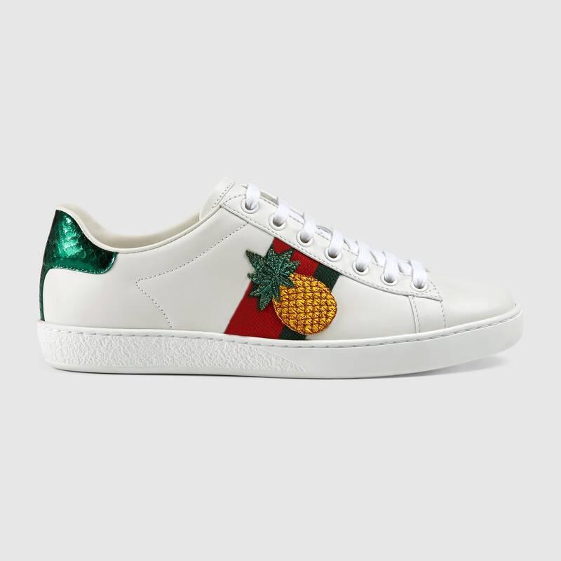 Luxe haut ananas coq coléoptère nouvelles chaussures de marque ace baskets design en cuir pour hommes et femmes broderie chaussures de sport grande taille