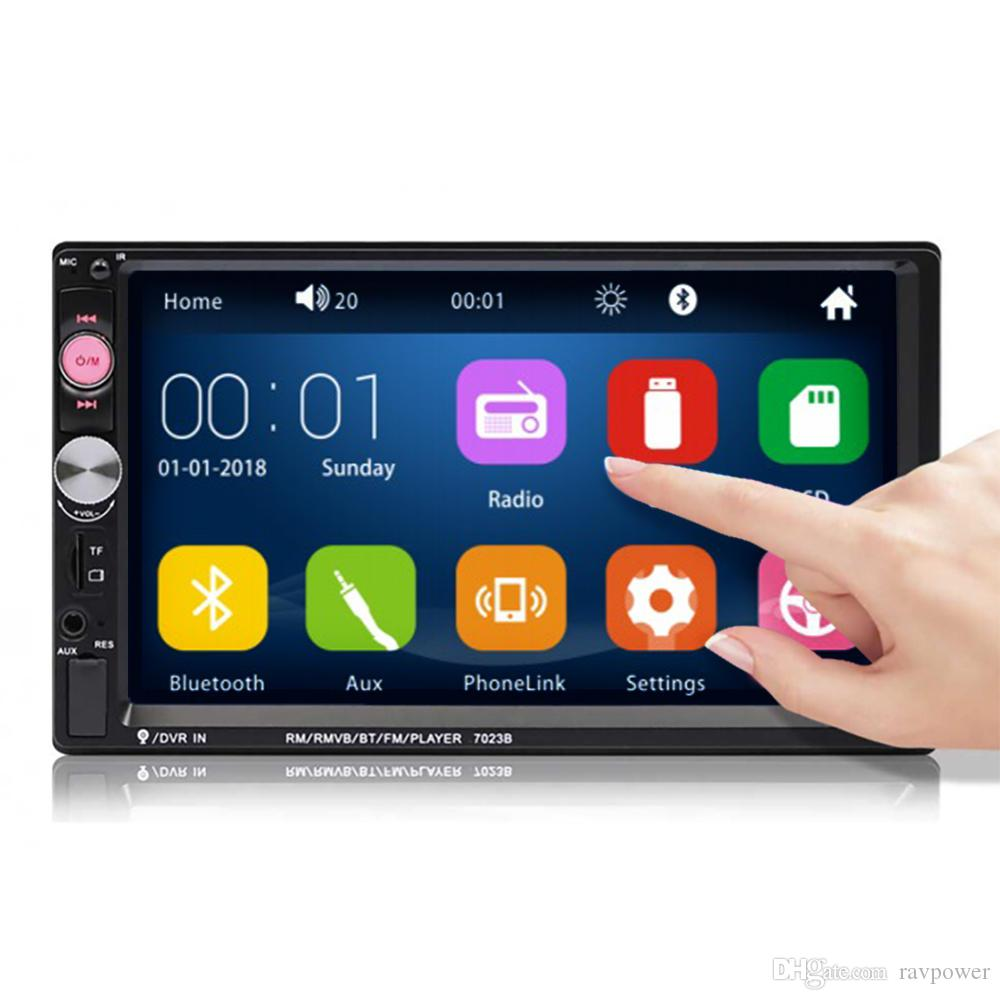 "Carro 2DIN Duplo 7/"" MP5 Player Bluetooth Touch Screen Rádio estéreo Câmera Usb Xxx"